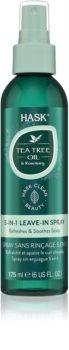 HASK Tea Tree Oil & Rosemary leöblítést nem igénylő spray száraz, viszkető fejbőrre