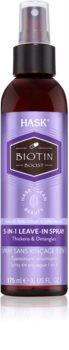 HASK Biotin Boost leöblítést nem igénylő spray a haj megerősítésére