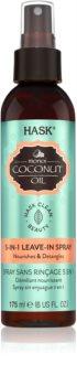 HASK Monoi Coconut Oil spray care nu necesita clatire pentru un par stralucitor si catifelat