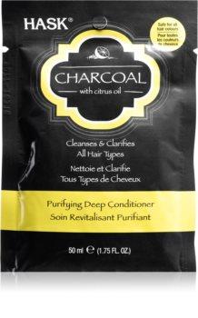 HASK Charcoal with Citrus Oil Syväravitseva Hoitoaine Päänahan Uudistamiseen