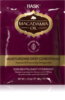 HASK Macadamia Oil feuchtigkeitsspendender Conditioner für trockenes, beschädigtes und gefärbtes Haar