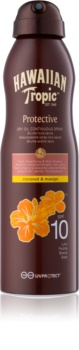 Hawaiian Tropic Protective száraz napozó olaj spray formában SPF 10