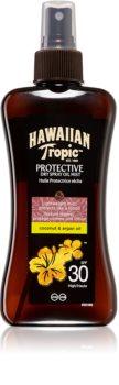Hawaiian Tropic Protective сухо масло за слънчеви бани в спрей SPF 30