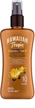 Hawaiian Tropic Golden Tint lait corporel protecteur en spray SPF 10