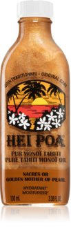 Hei Poa Pure Tahiti Monoï Oil Golden Mother of Pearl multifunkcionális olaj csillámporral