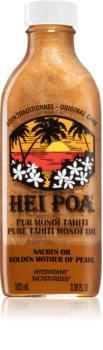 Hei Poa Pure Tahiti Monoï Oil Golden Mother of Pearl Multifunktionel olie med glitter