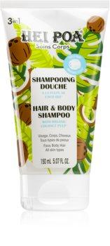 Hei Poa Organic Coconut Oil kókuszolajat tartalmazó sampon testre és hajra