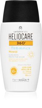 Heliocare 360° Pediatrics mineralische Fluid-Creme zum Bräunen SPF 50+