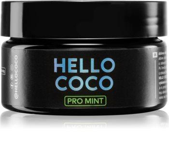 Hello Coco PRO Mint cărbune activ pentru albirea dinților