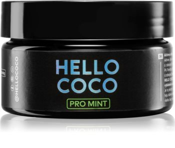Hello Coco PRO Mint charbon actif pour le blanchiment des dents