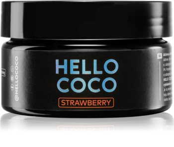 Hello Coco Strawberry charbon actif pour le blanchiment des dents
