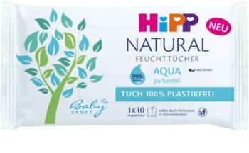 Hipp Babysanft Aqua Natural мокри почистващи кърпички за деца от раждането им