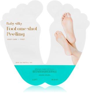 Holika Holika Baby Silky Foot Eksfolierende fodmaske til ødelagt hud + sokker