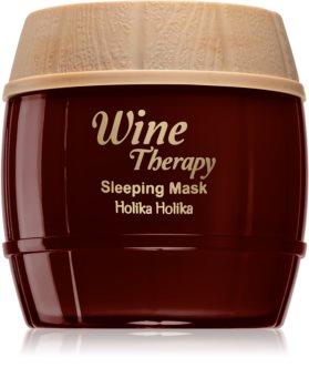 Holika Holika Wine Therapy Maske für die Nacht gegen Falten