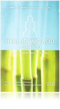Holika Holika Ampoule Mask Sheet From Nature Hyaluronic Acid + Bamboo maseczka płócienna o działaniu silnie nawilżajacym i odżywczym