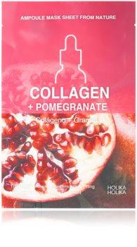 Holika Holika Ampoule Mask Sheet From Nature Collagen + Pomegranate платнена маска със стягащ ефект
