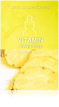 Holika Holika Ampoule Mask Sheet From Nature Vitamin C + Pineapple masque tissu énergisant