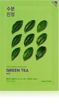 Holika Holika Pure Essence Green Tea подхранваща платнена маска за чувствителна и зачервена кожа