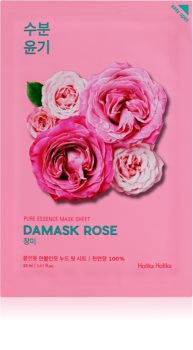 Holika Holika Pure Essence Damask Rose maschera in tessuto idratante e rivitalizzante