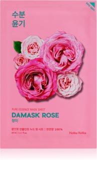 Holika Holika Pure Essence Damask Rose plátýnková maska s hydratačním a revitalizačním účinkem