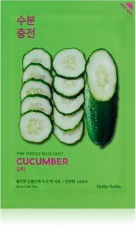 Holika Holika Pure Essence Cucumber платнена маска с успокояващ ефект за чувствителна кожа със склонност към почервеняване