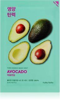 Holika Holika Pure Essence Avocado mască textilă calmantă