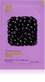 Holika Holika Pure Essence Acai Berry maschera viso esfoliante in tessuto