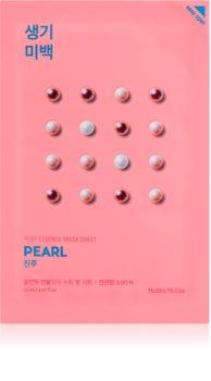 Holika Holika Pure Essence Pearl maseczka płócienna o działaniu rozjaśniającym