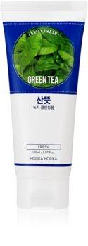 Holika Holika Daily Fresh Green Tea čisticí pěna vyrovnávající tvorbu kožního mazu se zeleným čajem