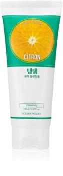 Holika Holika Daily Fresh Citron spuma exfolianta pentru curatare pentru ten gras și mixt