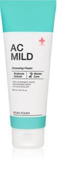 Holika Holika AC Mild Cleansing Foam почистваща пяна, изравняваща образуването на себум за кожа с акне