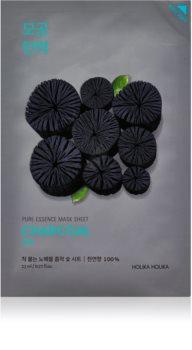Holika Holika Pure Essence Charcoal čisticí plátýnková maska s aktivním uhlím