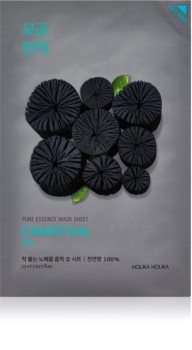 Holika Holika Pure Essence Charcoal cleansing face sheet mask with activated charcoal