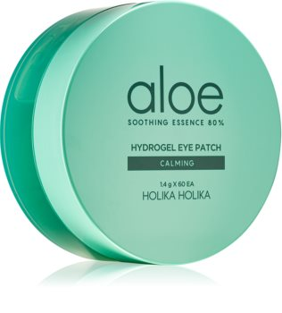 Holika Holika Aloe Soothing Essence masca hidrogel pentru ochi pentru netezirea pielii