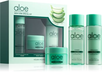 Holika Holika Aloe Soothing Essence kosmetická sada II. pro ženy