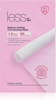 Holika Holika Less On Skin Redness Calming CICA masca de celule cu efect calmant pentru piele sensibila si iritabila
