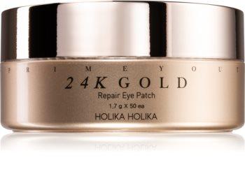 Holika Holika Prime Youth 24K Gold hydrogelová maska na oční okolí s 24karátovým zlatem