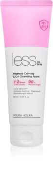Holika Holika Less On Skin Redness Calming CICA Dermo Soothing Deep Cleansing Foam for Sensitive, Redness-Prone Skin