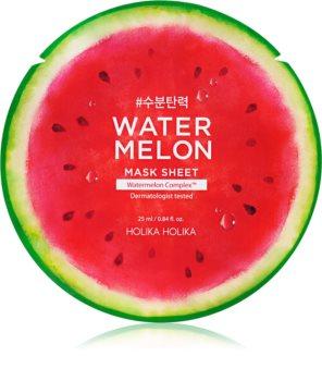 Holika Holika Watermelon Mask plátýnková maska s hydratačním a zklidňujícím účinkem