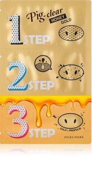 Holika Holika Pig Nose Honey Gold patch purifiant anti-pores dilatés du nez
