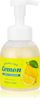 Holika Holika Sparkling Lemon почистваща пяна  с дозатор