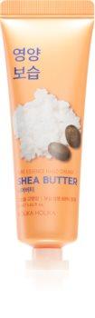 Holika Holika Pure Essence Shea Butter feuchtigkeitsspendende Creme für die Hände mit Bambus Butter