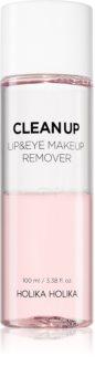 Holika Holika Clean Up лосион за почистване на грим с две съставки за чувствителна кожа на лицето и околоочен контур