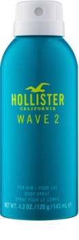 Hollister Wave 2 spray corporal para homens 143 ml