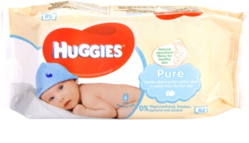 Huggies Pure почистващи кърпички за деца от раждането им