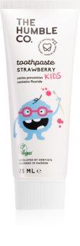 The Humble Co. Natural Toothpaste Kids pasta de dinti naturala pentru copii cu aroma de capsuni