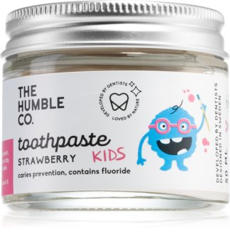 The Humble Co. Natural Toothpaste Kids natürliche Zahnpasta für Kinder mit Erdbeergeschmack