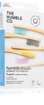 The Humble Co. Brush Adult Periuta de dinti de bambus mediu