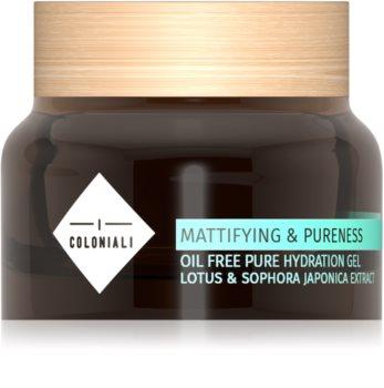 I Coloniali Mattifying & Pureness mattierendes Gel mit feuchtigkeitsspendender Wirkung für normale Haut und Mischhaut