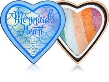 I Heart Revolution Mermaids Heart iluminator pentru față și zona ochilor